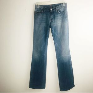 7For All Mankind Distressed Ripped Jeans